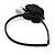 Thin Black With Side Silk & Feather Rose Flower Alice/ Hair Band/ HeadBand - view 4