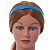 Teal Blue Polished Acrylic Alice/ Hair Band/ HeadBand - view 5