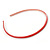 Thin Red Polished Acrylic Alice/ Hair Band/ HeadBand - view 5