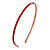 Thin Red Polished Acrylic Alice/ Hair Band/ HeadBand