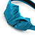 Teal Green Silk With Side Bow Alice/ Hair Band/ HeadBand - view 3