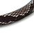 Snake Print Fabric Alice/ Hair Band/ HeadBand (Black/ Grey) - view 3
