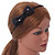 Thin Black Silk With Side Sequin Bow Alice/ Hair Band/ HeadBand - view 2