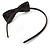 Thin Black Silk With Side Sequin Bow Alice/ Hair Band/ HeadBand - view 4