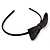 Thin Black Silk With Side Sequin Bow Alice/ Hair Band/ HeadBand - view 7