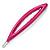 Oval Deep Pink Acrylic Hair Slide - 90mm Across