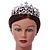 Statement Bridal/ Wedding/ Prom Rhodium Plated Austrian Crystal, Glass Pearl Leaf Tiara - view 2