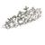 Statement Bridal/ Wedding/ Prom Rhodium Plated Austrian Crystal, Glass Pearl Leaf Tiara - view 4