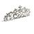 Statement Bridal/ Wedding/ Prom Rhodium Plated Austrian Crystal, Glass Pearl Leaf Tiara - view 6