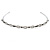 Bridal/ Wedding/ Prom Rhodium Plated Black/ Clear Crystal Tiara Headband