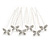Bridal/ Wedding/ Prom/ Party Set Of 6 Rhodium Plated Crystal 'Butterfly' Hair Pins - view 3