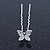 Bridal/ Wedding/ Prom/ Party Set Of 6 Rhodium Plated Crystal 'Butterfly' Hair Pins - view 5
