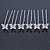 Bridal/ Wedding/ Prom/ Party Set Of 6 Rhodium Plated Crystal 'Butterfly' Hair Pins - view 8
