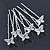 Bridal/ Wedding/ Prom/ Party Set Of 6 Rhodium Plated Crystal 'Butterfly' Hair Pins - view 6