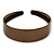 Wide Bronze Metallic Snake Print Leather Style Alice/ Hair Band/ HeadBand - view 7