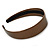 Wide Bronze Metallic Snake Print Leather Style Alice/ Hair Band/ HeadBand - view 5