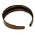 Wide Bronze Metallic Snake Print Leather Style Alice/ Hair Band/ HeadBand - view 6
