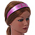 Wide Pink Leather Style Geometric Pattern Flex Alice/ Hair Band/ HeadBand - Adjustable - view 3