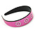Wide Pink Leather Style Geometric Pattern Flex Alice/ Hair Band/ HeadBand - Adjustable - view 5