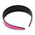 Wide Pink Leather Style Geometric Pattern Flex Alice/ Hair Band/ HeadBand - Adjustable - view 7