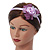 Thin Pink Silk Rose Flower Alice/ Hair Band/ HeadBand - view 2