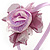 Thin Pink Silk Rose Flower Alice/ Hair Band/ HeadBand - view 3