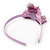 Thin Pink Silk Rose Flower Alice/ Hair Band/ HeadBand - view 6