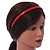 Snake Print Leather Style Red Alice/ Hair Band/ HeadBand - view 2