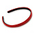 Snake Print Leather Style Red Alice/ Hair Band/ HeadBand - view 3