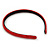 Snake Print Leather Style Red Alice/ Hair Band/ HeadBand - view 6