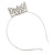 Statement Full Round Clear Crystal Queen Crown Rhinestone Bridal Tiara Headband Pageant Prom Wedding Hair Jewellery - view 4
