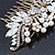 Oversized Bridal/ Wedding/ Prom/ Party Antique Gold Crystal, Pearl Floral Hair Comb - 100mm - view 11