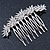 Bridal/ Prom/ Wedding/ Party Rhodium Plated Clear Austrian Crystal Floral Side Hair Comb - 8cm W - view 6
