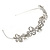 Statement Bridal/ Wedding/ Prom Rhodium Plated Clear Austrian Crystal  Butterfly Tiara - view 6