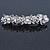 Bridal Wedding Prom Silver Tone Glass Pearl, Crystal Floral Barrette Hair Clip Grip - 90mm W - view 8