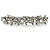 Bridal Wedding Prom Silver Tone Glass Pearl, Crystal Floral Barrette Hair Clip Grip - 90mm W - view 13