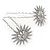Bridal/ Wedding/ Prom/ Party Set Of 2 Rhodium Plated Clear Austrian Crystal Star Hair Pins - view 6