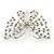 Bridal/ Prom/ Wedding/ Party Rhodium Plated Clear Austrian Crystal Open Butterfly Side Hair Comb - 70mm W - view 5