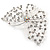 Bridal/ Prom/ Wedding/ Party Rhodium Plated Clear Austrian Crystal Open Butterfly Side Hair Comb - 70mm W - view 4
