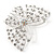 Bridal/ Prom/ Wedding/ Party Rhodium Plated Clear Austrian Crystal Open Butterfly Side Hair Comb - 70mm W - view 7
