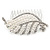 Clear Austrian Crystal, White Faux Pearl 'Leaf' Side Hair Comb In Rhodium Plating - 85mm - view 5