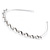 Bridal/ Wedding/ Prom Rhodium Plated White Glass Pearl, Clear Crystal Tiara Headband