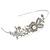 Statement Bridal/ Wedding/ Prom Rhodium Plated Clear Austrian Crystal Floral Tiara