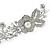 Statement Bridal/ Wedding/ Prom Rhodium Plated Clear Austrian Crystal Floral Tiara - view 3