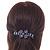 Bridal Wedding Prom Black Tone Lilac/ Purple Diamante Flower Barrette Hair Clip Grip - 95mm Across - view 2