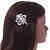 Clear Austrian Crystal Open Rose Hair Beak Clip/ Concord Clip/ Clamp Clip In Silver Tone - 60mm L - view 2