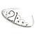 Bridal/ Wedding/ Prom Rhodium Plated Clear Crystal '21' Princess Classic Tiara - view 5