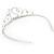 Bridal/ Wedding/ Prom Rhodium Plated Clear Crystal '21' Princess Classic Tiara - view 4