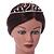 Bridal/ Wedding/ Prom Rhodium Plated Clear Crystal '21' Princess Classic Tiara - view 2