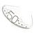 Bridal/ Wedding/ Prom Rhodium Plated Clear Crystal '50' Queen Classic Tiara